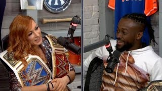 Becky Lynch and Kofi Kingston talk to  Boomer & Gio  the morning after WrestleMania @WWE