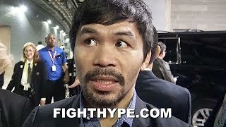 PACQUIAO REACTS TO SPENCE DOMINATING MIKEY GARCIA; EXPLAINS WHAT WENT WRONG FOR GARCIA