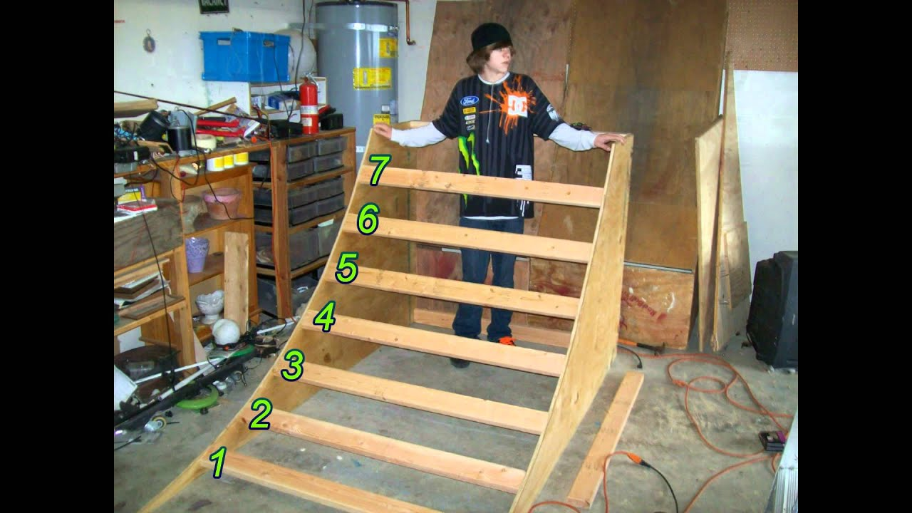 how to make a half pipe out of wood