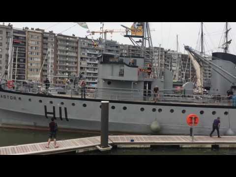 Buitenvaren van de Castor uit de haven van Blankenberge 28-05-2017