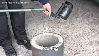 Metal Casting at Home Part 34 Crucible Lifter and Pourer