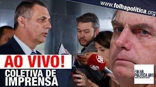 AO VIVO: COLETIVA DE IMPRENSA DO GOVERNO JAIR BOLSONARO - GENERAL RÊGO BARROS - TRUMP, EUA, CHILE