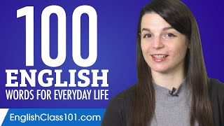 100 English Words for Everyday Life - Basic Vocabulary #5