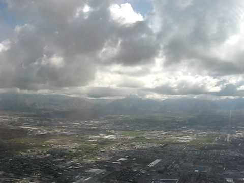 Salt Lake City International Airport (SLC) Approach and Landing