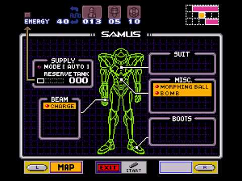 Super Metroid - Super Metroid-Best Moment extremely early gravity suit! - User video