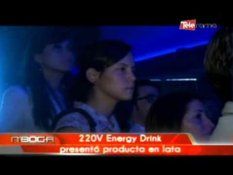 220V Energy Dink presentó producto en lata