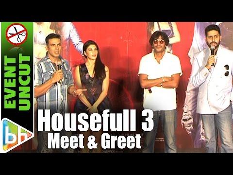 Housefull 3 Actors Akshay Kumar | Abhishek Bachchan and Jacqueline Fernandez Meet Fans | Event Uncut