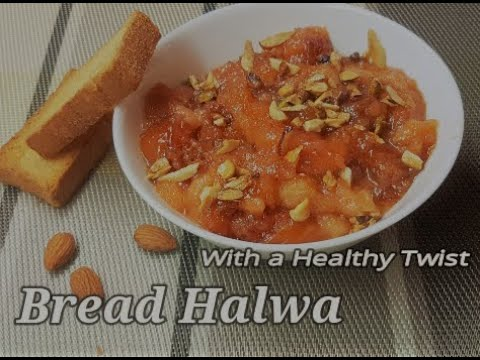 Bread Halwa with a Healthy twist|Wedding Style Bread Halwa|Bread Halwa|New Year Special Sweet