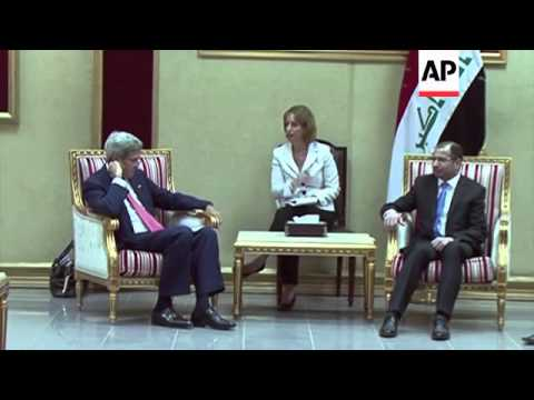 US Sec of State John Kerry meets Iraq's parliamentarians