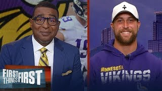 Adam Thielen talks facing Packers in Wk 2, competitive NFC & Kirk Cousins | NFL | FIRST THINGS FIRST