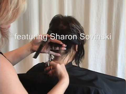 Part 1 of 2 Layered Angled Modern Bob Hair Cut featuring Sharon Sovinski
