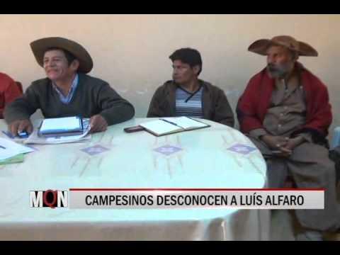 24/04/15 12:55 CAMPESINOS DESCONOCEN A LUÍS ALFARO