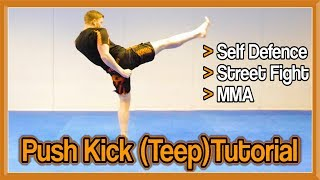 Push Kick (Teep) Tutorial for Self Defence, Street Fight, MMA, etc | GNT