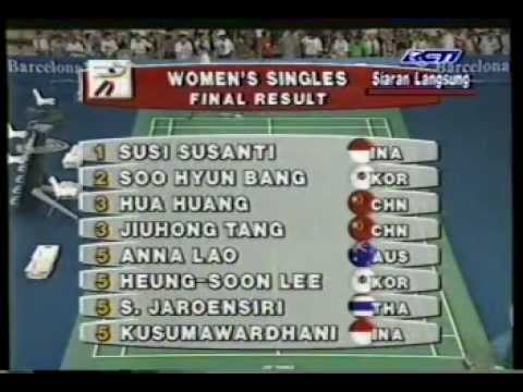 Game | Final Bulutangkis Tunggal Putri Olimpiade Susi Susanti VS Bang Soo Hyun RCTI 1992 Part 2 | Final Bulutangkis Tunggal Putri Olimpiade Susi Susanti VS Bang Soo Hyun RCTI 1992 Part 2