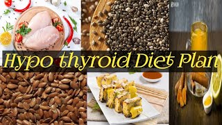 Weight loss diet plan for thyroid | Men & women | Indian diet to lose weight | Hypothyroidism