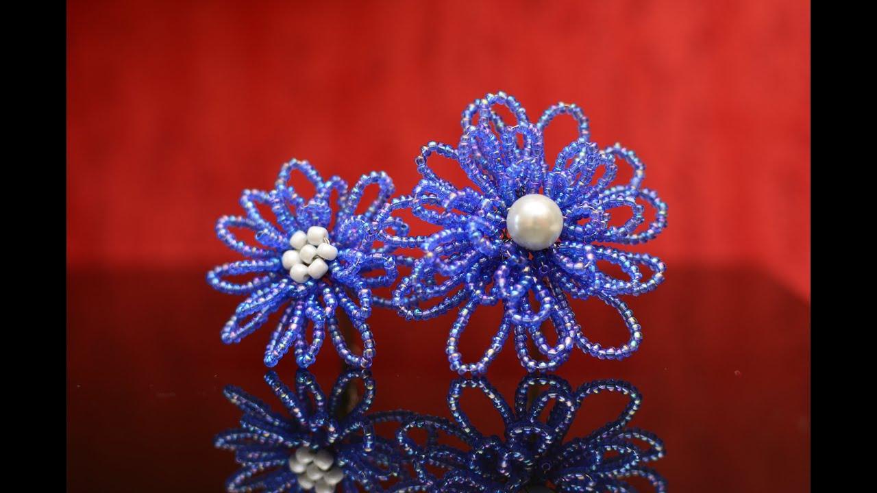 Все синие цветы из бисера 112