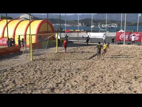 2013 OFC Beach Soccer Championship Match 1 Solomon Islands vs Vanuatu Highlights