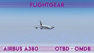 Doha - Dubai · Airbus A380 · FlightGear