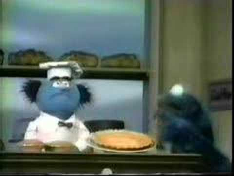 Cookie Monster at the bakery - Classic Sesame Street