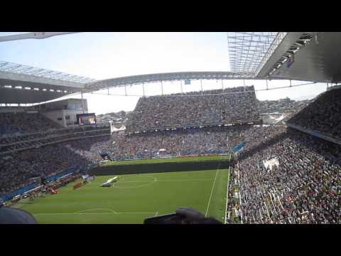 Argentinian national anthem, Argentina v Switzerland, World Cup 2014, Sao Paulo