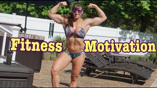 Bikini Fitness Motivation - Poolside Workout - Kristen Graham