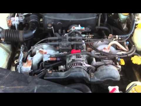 Subaru Legacy Outback EJ25 cold start -20C