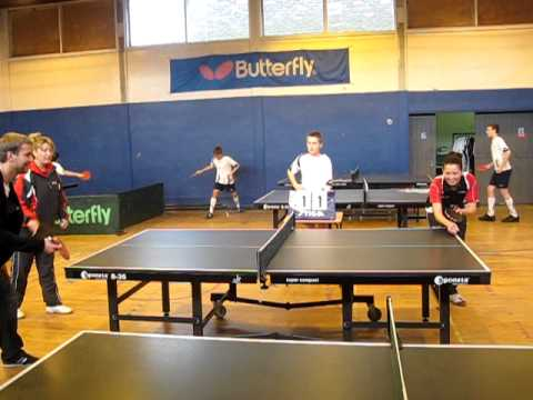 Bolton Wanderers Jussi Jaaskelainen and Robbie Blake play table tennis