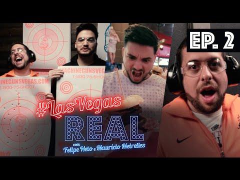 LAS VEGAS REAL EP 02 - Aula de tiro, Heart Attack e balada VIP em VEGAS!