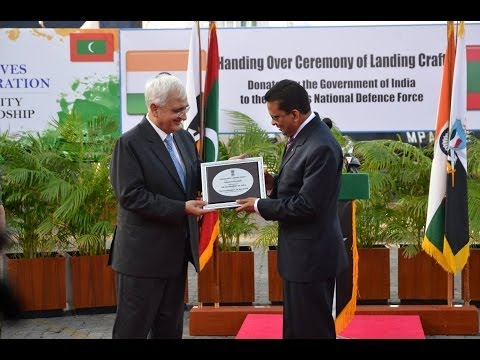 Handing over of naval Landing craft by External Affairs Minister Shri Salman Khurshid