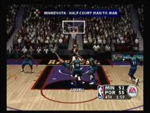 NBA Live 2004 (Playstation 2) - Timberwolves vs. Trail Blazers