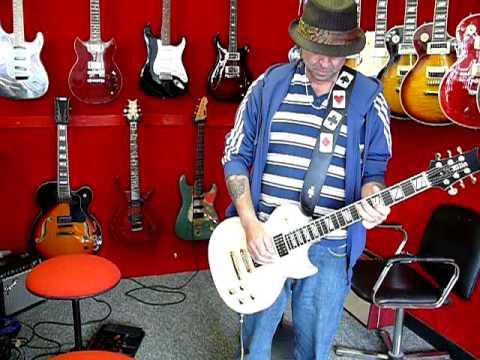 Phillip Campbell of Motorhead Playing a TC Ellis Guitar www.tcellisguitars.com