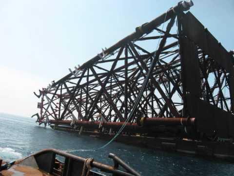 Offshore Platform Construction: Part 1, Jacket Leg Launching
