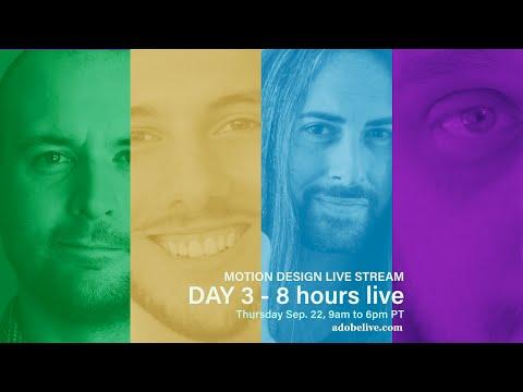 Motion Design Live Stream - DAY 3