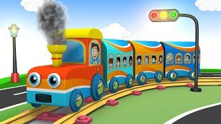 Toys for Children - Train Cartoon - Trains for Kids - Choo Choo Train - Kids Toy Factory - Train