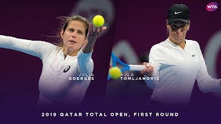 Julia Goerges vs. Ajla Tomljanovic | 2019 Qatar Total Open First Round | WTA Highlights