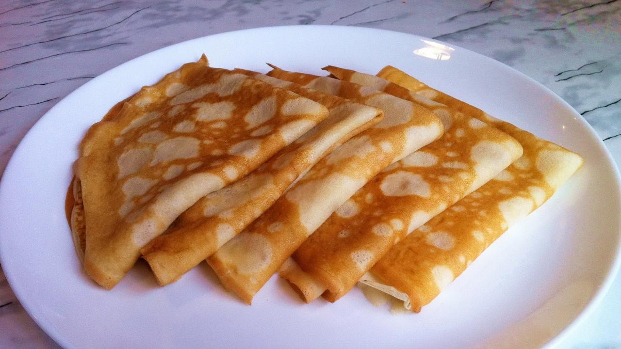 Блины тонкие на кефире с кипятком рецепт пошагово