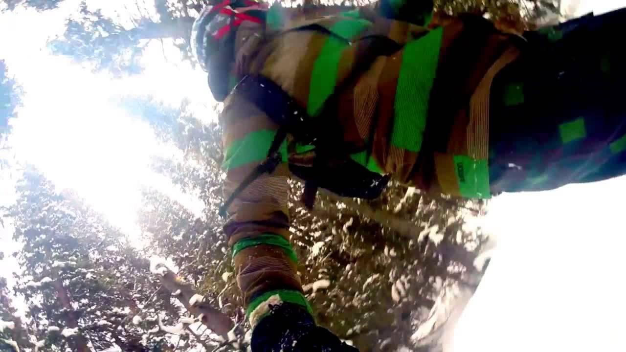 Tranquille en snowboard, quand soudain…