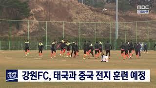 강원FC, 태국과 중국 전지 훈련 예정
