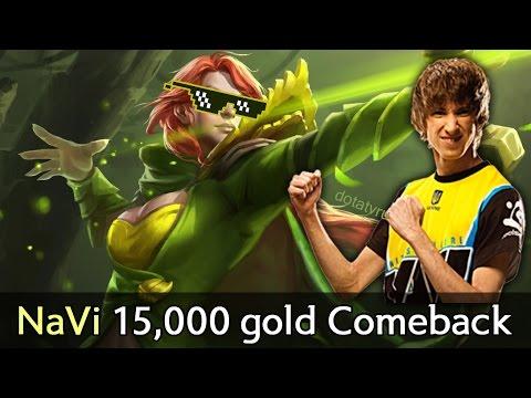 NaVi 15,000 gold Comeback vs Wings — Dendi Windranger