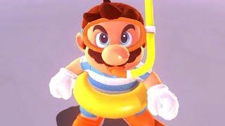 Super Mario Odyssey Walkthrough Part 4 - Mario Goes Swimming (Lake Kingdom)