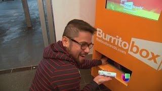 Una peculiar máquina dispensadora de burritos -- Noticiero Univisión