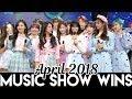 Kpop Music Show Wins - April 2018