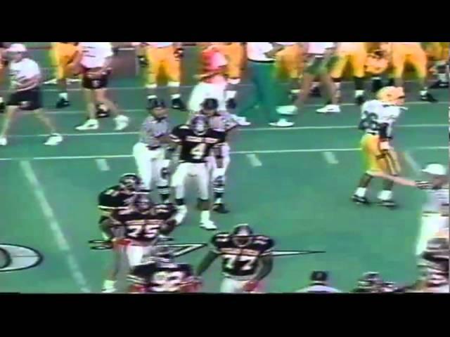 Oregon WR James Jessie first down catch vs. Texas Tech 9-14-1991