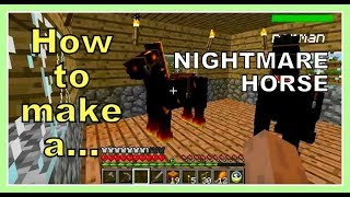 Minecraft Mo' Creatures How to make a nightmare horse