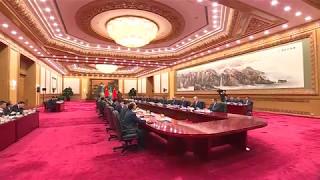 Нурсултан Назарбаев назвал сотрудничество Казахстана с Китаем образцовым
