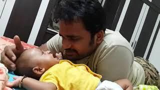 Funny baby talking with dad - Vibhav N