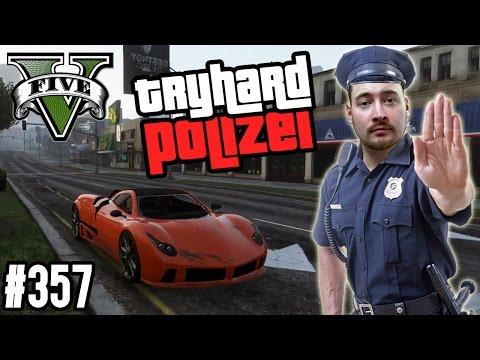 HALT STOP ! DIE TRYHARD POLIZEI SORGT FÜR GERECHTIGKEIT ! (+DOWNLOAD)   GTA V - CUSTOM MAP RENNEN