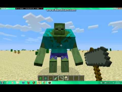 MINECRAFT 1.4.4 MOD SHOWCASE MUTANT CREEPERS AN ZOMBIES