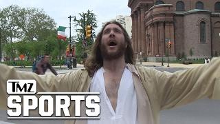 Jesus Is an Eagles Fan?! | TMZ Sports