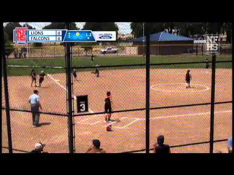 Big Valley Christian's Sarah Layman RBI triple